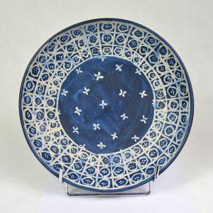 Assiette motif batik