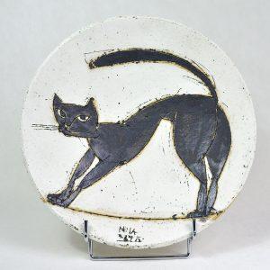 Assiette au chat noir