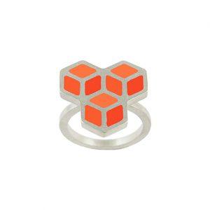 Bague Trois Cubes ajustable
