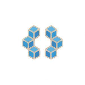Boucles d'oreilles Trois cubes