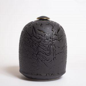 Grande boîte noire craquelée